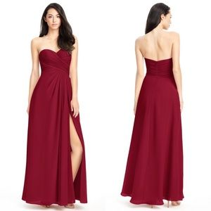 Azazie Arabella Allure Bridesmaid Dress Burgundy 2